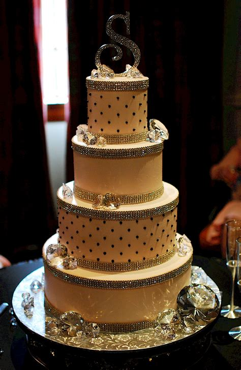 cup a cakes bling wedding cake
