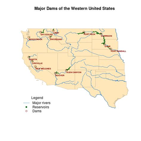 Western Us Map With Rivers