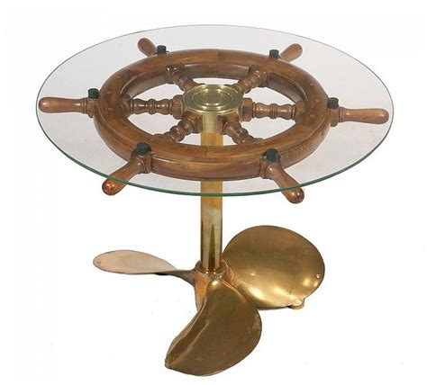 ship s wheel coffee table low table made up from a