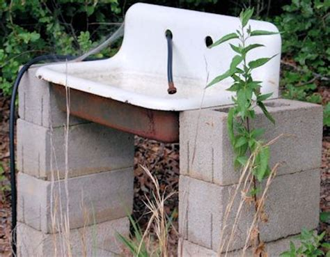 Outdoor Kitchen Sink Drain Outdoor Garden Sink Powered By The Hose With A Drain That Goes To The Soil Great Way To Wash