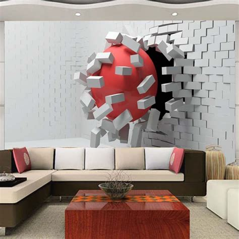 large custom mural wallpaper modern abstract 3d