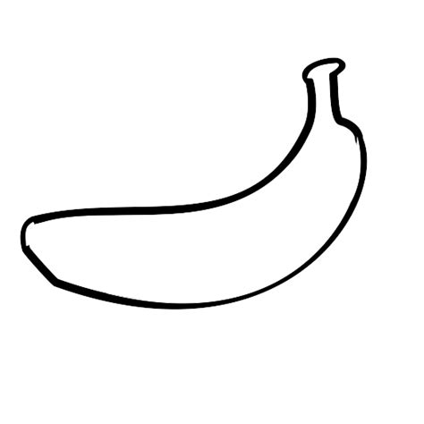banana line drawing clipart best