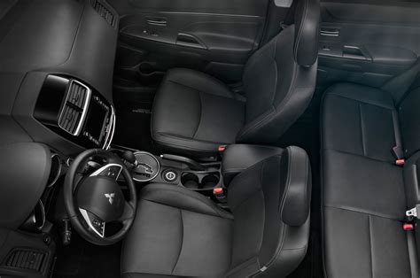 outlander mitsubishi 2015 interior 2015 mitsubishi outlander sport gets new cvt minor