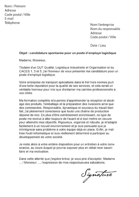 Exemple De Lettre De Motivation Logisticien Lettre De Motivation Demande De Formation Professionnelle