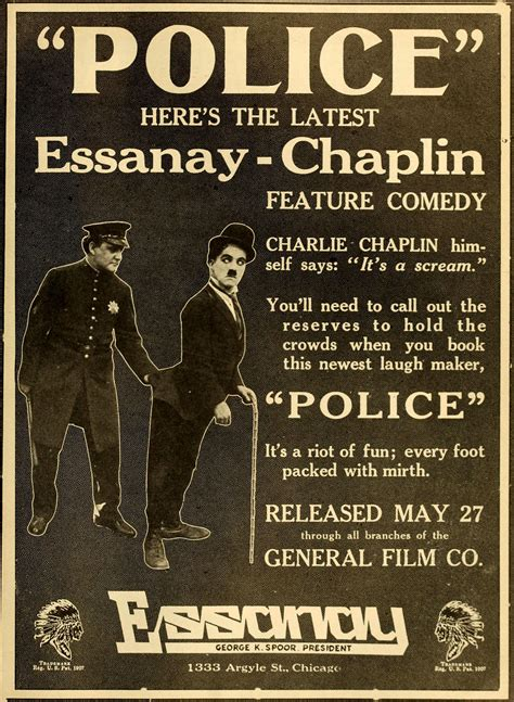 charlie chaplin my life in pictures ensign dryer c 1915 police 1916 film wikipedia
