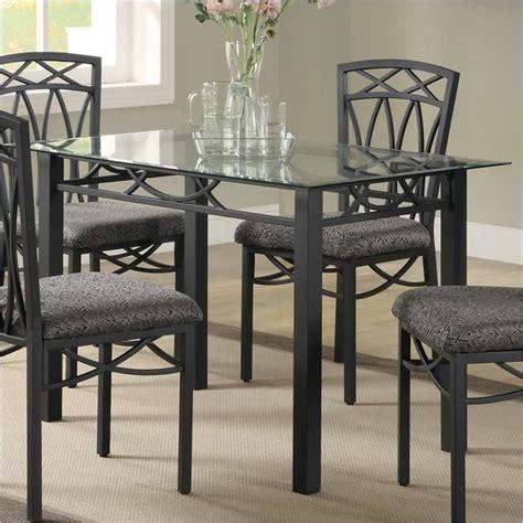 coaster dining table in black ebay