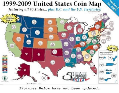 quarter map complete set of 50 state quarter holder big album map ebay