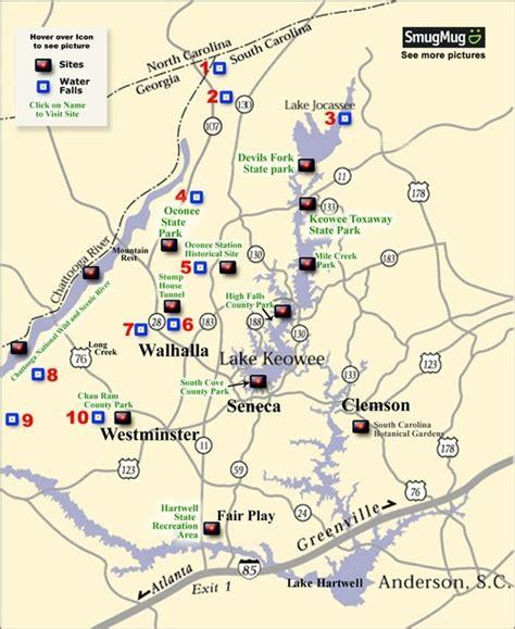 carolina waterfalls map pin by bill dunlap on upstate south carolina real estate