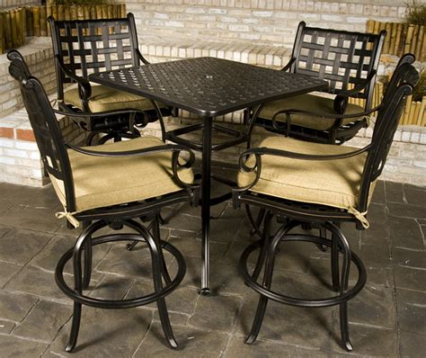 Patio Furniture Bar Height Set Chateau Bar Height Outdoor Patio Furniture Set Family Leisure