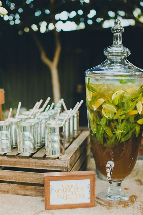 drink ideas for western or country weddings