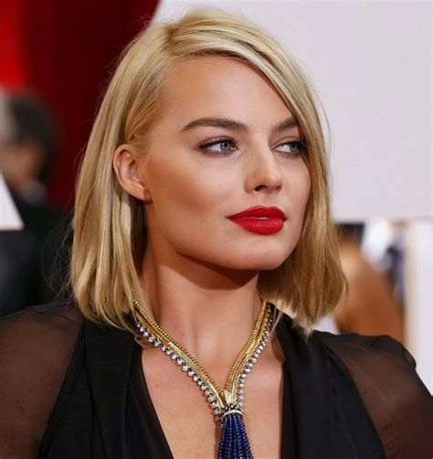 blonde bob red lips beautiesmoothie oscars hair trend long blonde bob