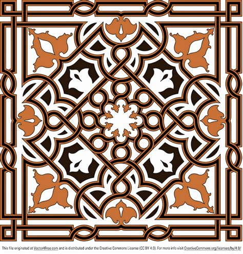 arabesque pattern ai free ornament vector arabesque