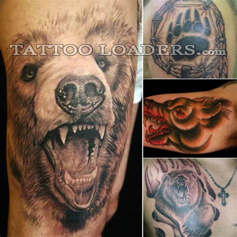 dancing bear tattoo designs in maoistpolice battle tribal the brunt