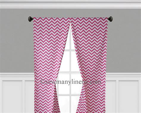 hot pink chevron curtains chevron fuchsia white curtains sew many linens