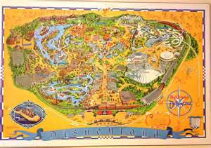 disneyland map and guidebook 1976 space mountain is