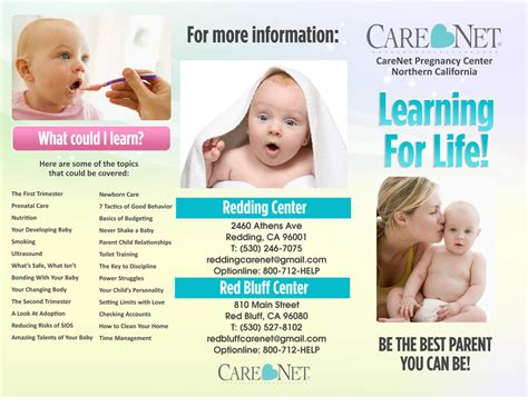 brochures care net pregnancy center of northern california