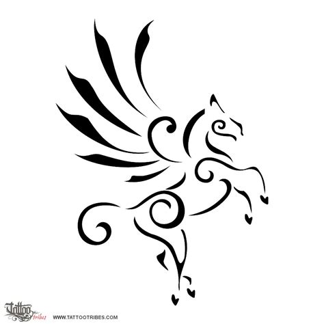 born unicorn meaning tattoo of stylized pegasus inspiration elevation tattoo