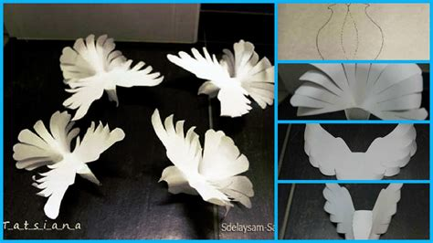 How To Make Paper From Paper - how to make paper doves craft ideas