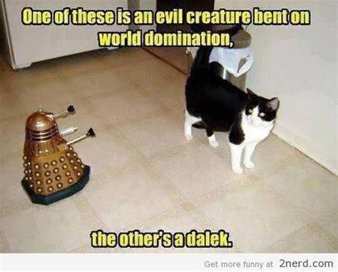 Doctor Who Cat Meme - dalek vs a cat2 nerd 2 nerd2 nerd