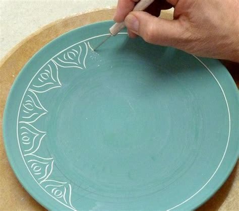 decorating with pottery scratching through underglaze ideas for finishing clay