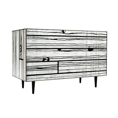 kommode schwarz wrongwoods chest of drawers by established sons
