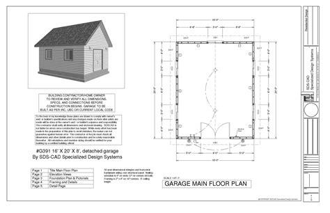 workshop layout dwg g391a 16 x 20 x 8 bunkhouse storage shed or workshop