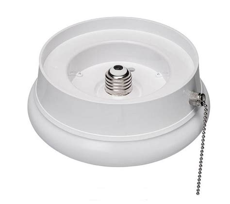 led pull chain light eti 7 inch spin light led fixture with pull chain