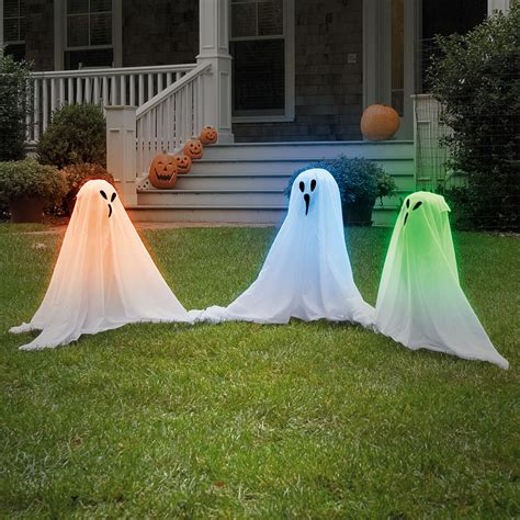 Up Yard Decorations For - new light up color changing ghostly haunt your yard