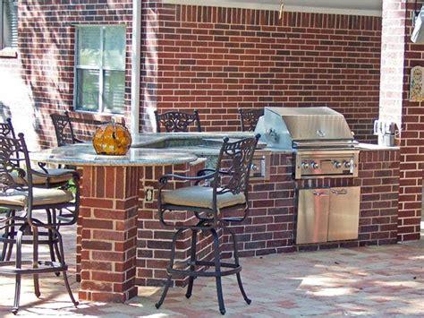 brick outdoor kitchen red brick outdoor kitchen pinterest