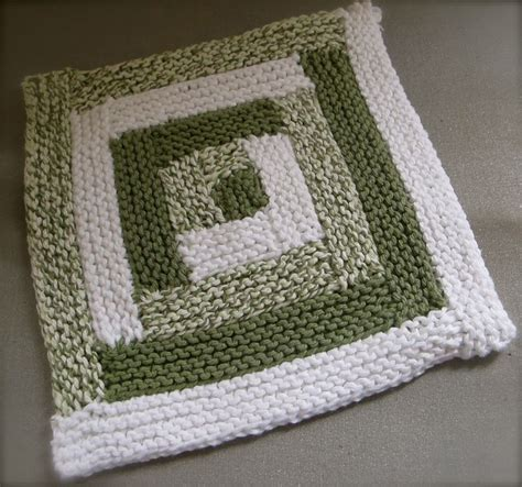 Knitted Log Cabin Pattern by Log Cabin Dishcloth This Month S Knitted Gift
