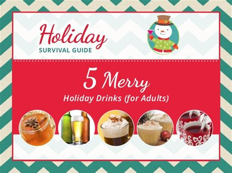 holiday drinks for adults 5 merry drinks for adults