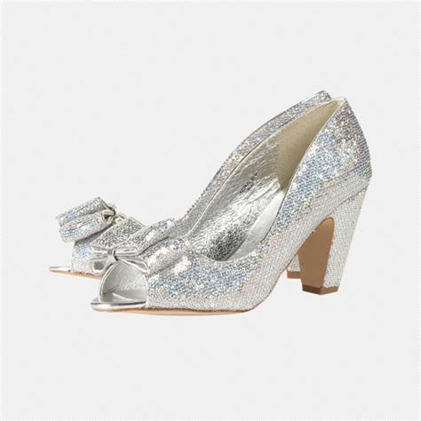Topshop Bow Front Peep Toes by Topshop Jingle Glitter Bow Peep Toe Shoes Festive And