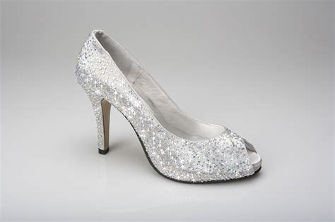 Silver Wedding Shoes by Peep Toe Silver From Couture
