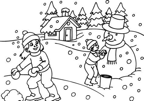 coloring pages winter season universul copiilor desene de colorat cu copii care se