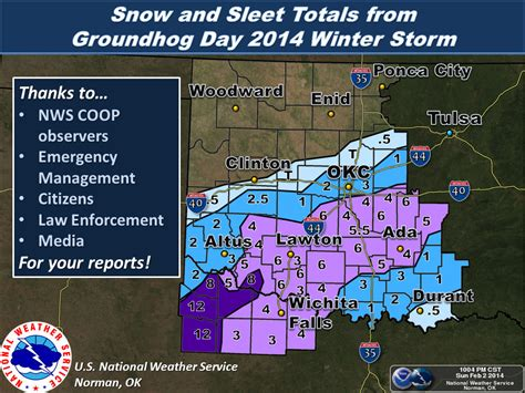 texas snowfall map the winter of february 2 2014