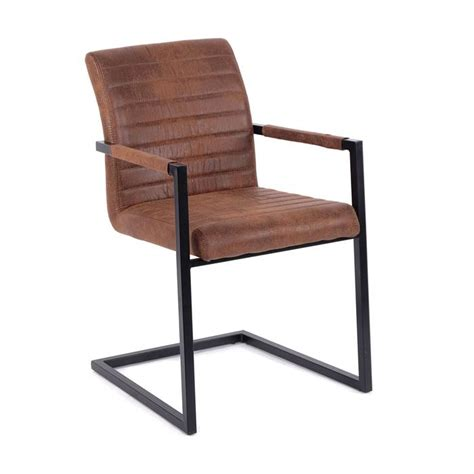 Cantilever Dining Chair Vintage Cantilever Quot Boston Quot Antique Brown Iron Dining Chair Waiting Room