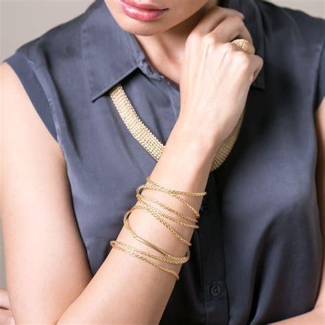 YooLa Gold Boho Wrap Layered Bracelet   Wolf & Badger   Pickture