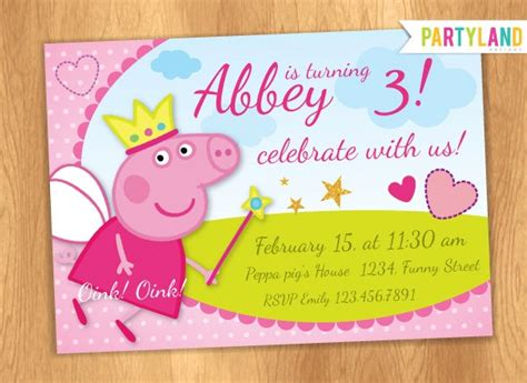personalized birthday card templates free 78 best images about peppa pig invitations on