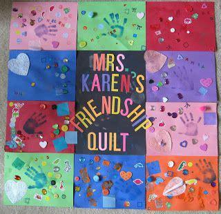 kindergarten activities on friendship friendship quot quilt quot with construction paper great way to