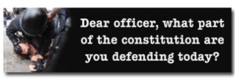 Dear Officer by Liberty Stickers Political Bumper Stickers Custom