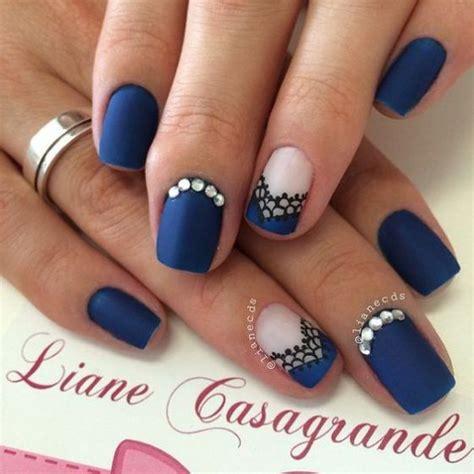 imagenes de uñas de acrilico azul marino ideas para decorar las u 241 as de azul mis u 241 as decoradas