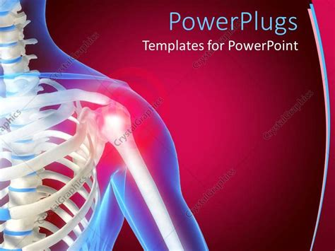 powerpoint template skeleton showing the anatomy of