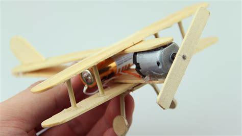plane  dc motor toy wooden plane diy