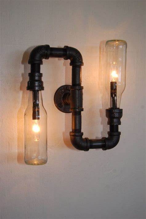 trend industrial wall sconces light industrial wall vanity light steunk pipe l by