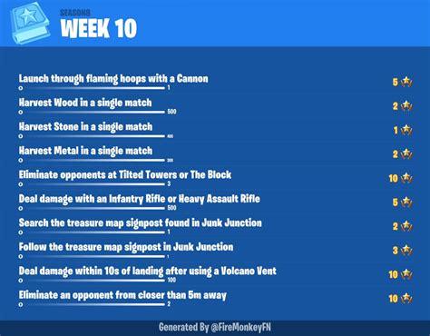 fortnite season  week  leaked challenges fortnite
