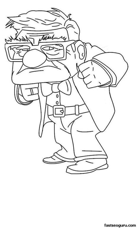 coloring pages from disney movies printable disney up the movie carl fredricksen sad