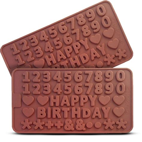 Cetakan Silicon Happy Birthday cetakan coklat numerik happy birthday elevenia