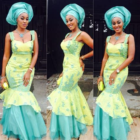 styles sewn with silk material aso ebi top 10 most beautiful cord lace aso ebi styles you ll