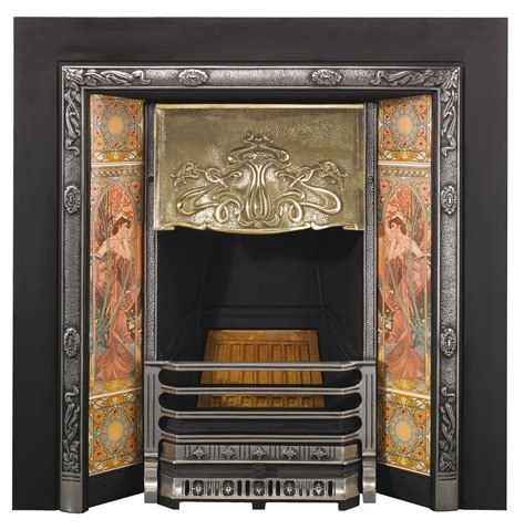 Deco Fireplace Tiles by Stovax Nouveau Tiled Insert Fireplace