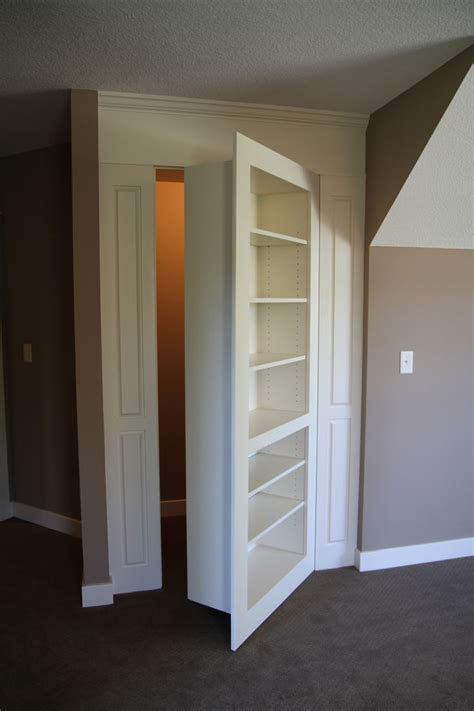 Replace A Closet Door With A Bookcase Door by Bookshelf Reveals Closet R R Homes